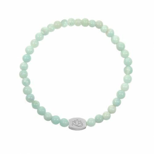 Mas Jewelz 4 mm Amazonite Model 1 Silver