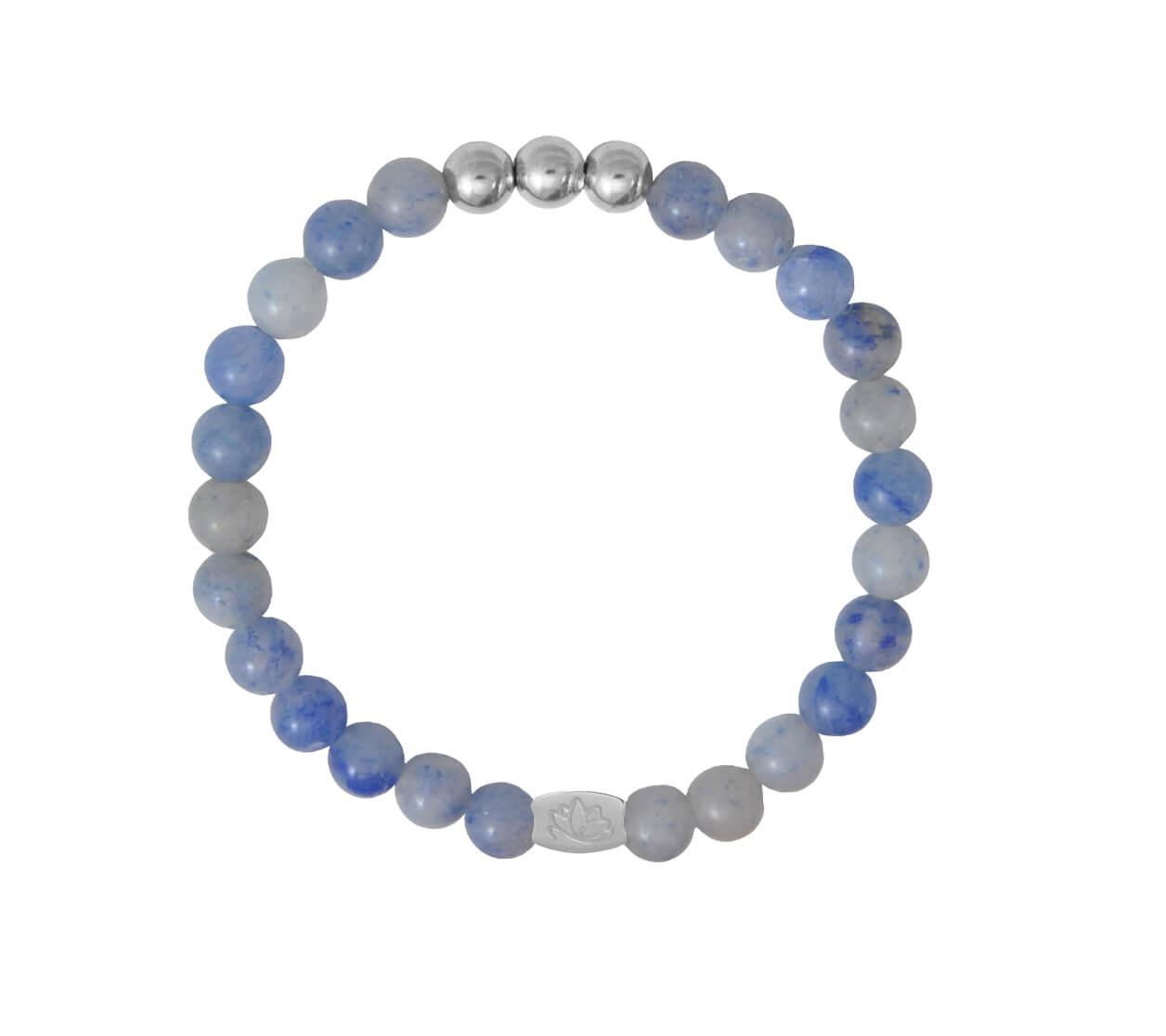 Mas Jewelz 6 mm Blue Quartz Silver