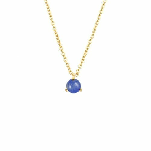 Mas Jewelz necklace Cabuchon Blue Quartz Gold