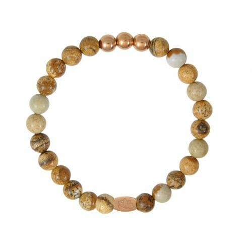 Mas Jewelz 6 mm Picture Jasper Rose gold