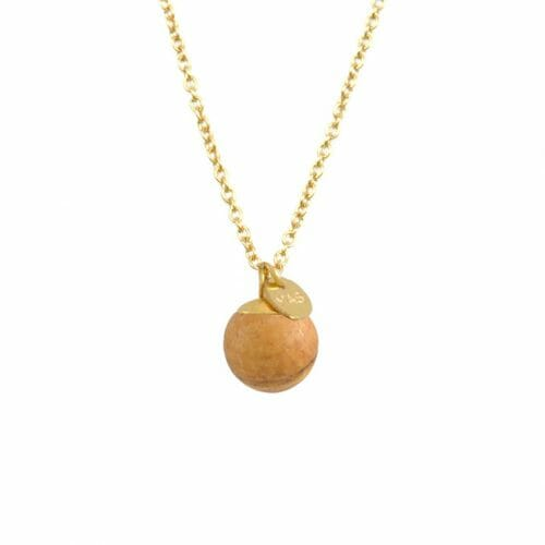 Mas Jewelz necklace Classic Picture Jasper Gold