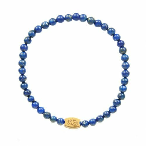 Mas Jewelz 4 mm Lapis Lazuli Model 1 Gold