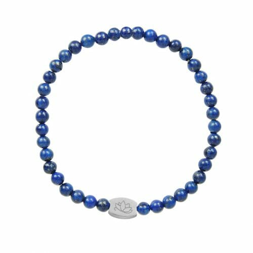 Mas Jewelz 4 mm Lapis Lazuli Model 1 Silver