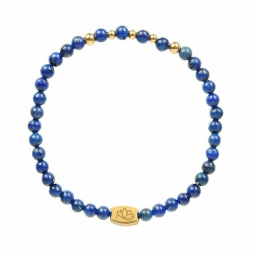 Mas Jewelz 4 mm Lapis Lazuli Model 2 Gold