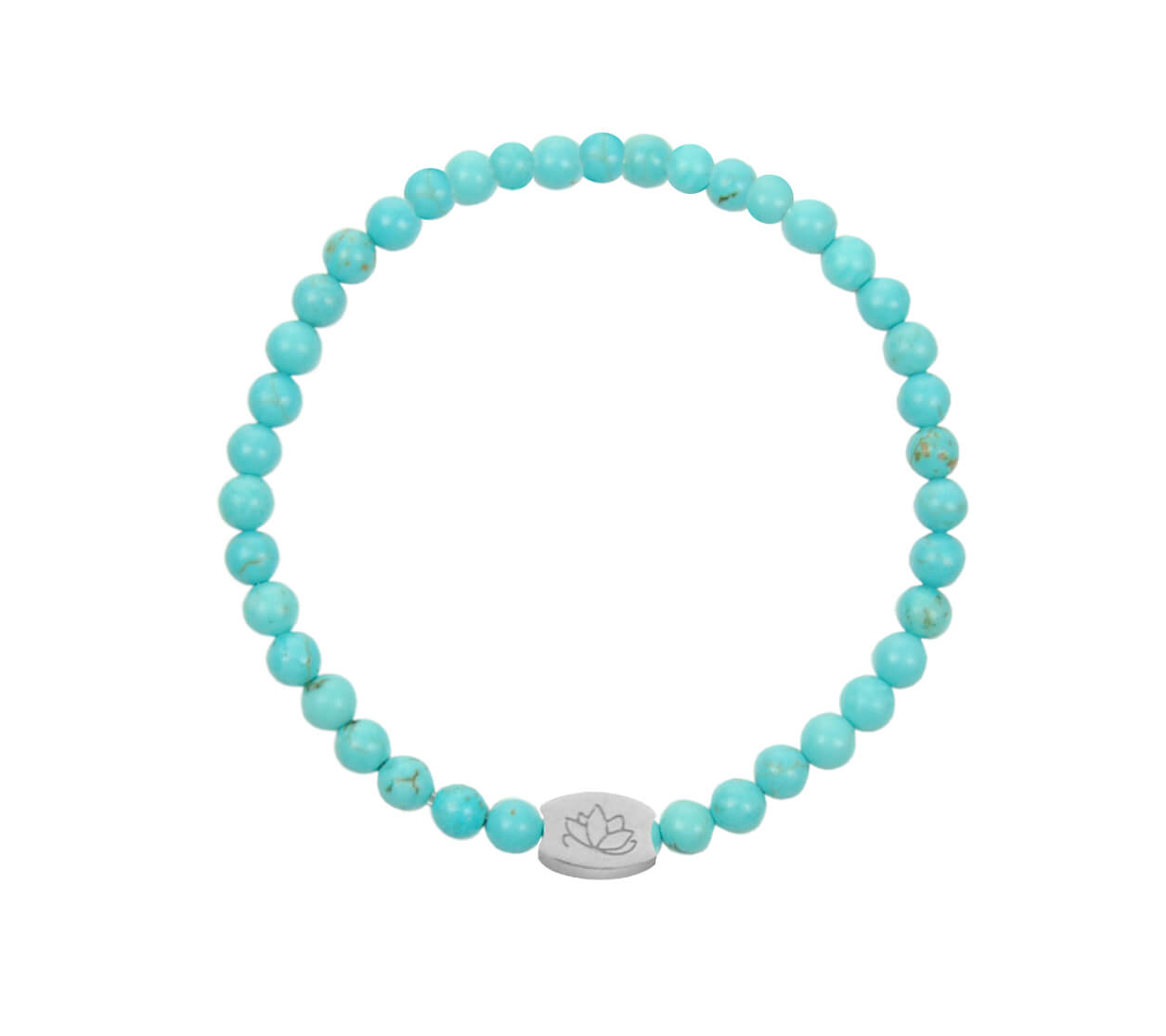 Mas Jewelz 4 mm Turquoise Model 1 Silver