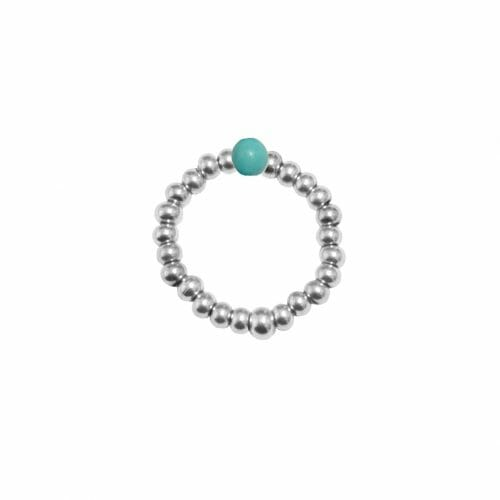 Mas Jewelz Ring 3 mm Turquoise Model 2 Silver